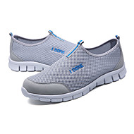 お買い得  メンズ ランニングシューズ-男性用 靴 チュール 夏 ローファー&スリップアドオン ランニング チェック のために ダークグレー ライトグレー ブルー