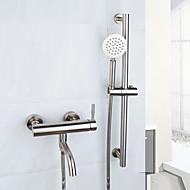 Kortárs Kifolyócső és zuhany Széleskörű Kézi zuhanyzót tartalmaz with  Kerámiaszelep Két fogantyú egy lyukkal for  Csiszolt , Kád