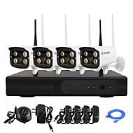 Yanse® 1.3mp plug and play trådløse ip kamera nvr kits ir nattesyn sikkerhet dvr system (hdmi / 960p / p2p)