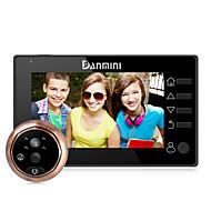 billige Dørtelefonssystem med video-Med ledning Fotografert Opptak 4 Håndfri 480*272 Danmini