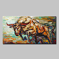 cheap Oil Paintings-Hand-Painted Animals Horizontal, Modern European Style Canvas Oil Painting Home Decoration One Panel