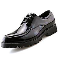 メンズ 靴 PUレザー 春 秋 グラディエーターサンダル オックスフォードシューズ 編み上げ 用途 カジュアル ブラック レッド グリーン