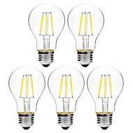 6W LED-hehkulamput A60(A19) 6 COB 450 lm Lämmin valkoinen Valkoinen Himmennettävissä V 5 kpl