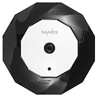 Sannce® 360 wirless panorama 960p fisheye ip kamera wifi 1.3mp video nattesyn innebygd mikrofon og høyttaler