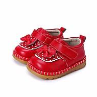 Bebek Düz Ayakkabılar İlk Adım Bahar Sonbahar Yapay Deri Yürüyüş Günlük Sihirli Bant Alçak Topuk Siyah Kırmzı Düz