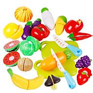 Szerepjátékok Játék konyha készletek Toy Foods Játékok Zöldség friut Gyermek Darabok