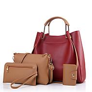 女性 バッグ 冬 PU その他皮革 4個の財布セット のために カジュアル ブラック ベージュ ワイン Arm Green