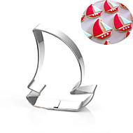 billige Kjeksverktøy-seilbåt corsair pirat skip kaker kutter rustfritt stål kake mold metall baking verktøy