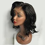 150% tiheys Brasilian neitsyt hiukset bob peruukit löysä aalto Nyörilliset hiuksista peruukit lyhyet neitsyt hiukset peruukki vauvan
