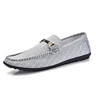 Men's Shoes Rubber Spring/Fall Moccasin Oxfords For Outdoor Black Gray Blue