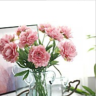 10 Gałąź Jedwab Piwonie Sztuczne Kwiaty