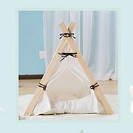 ネコ 犬 ベッド ペット用 クッション/枕 ソリッド 防水 携帯用 高通気性 テント ホワイト