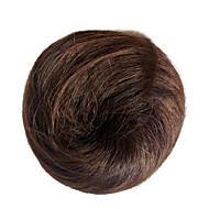 Capless parykker chignons krøllete kvinner hår bun hårstykke brun syntetisk hår forlengelse