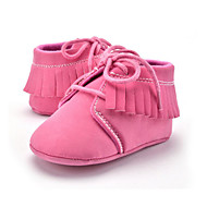 cheap Baby Shoes-Children's Baby Shoes Microfibre Summer Fall First Walkers Loafers & Slip-Ons Tassel Lace-up for Casual Party & Evening Dress Pink Khaki
