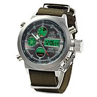 Homens Relógio Esportivo Relógio Militar Relogio digital Japanês Quartzo Digital Alarme Calendário Impermeável Dois Fusos Horários