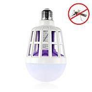 billige Globepærer med LED-1pc 15W 600lm E26 / E27 LED-globepærer 24pcs LED perler SMD 2835 Insekter Mygg Fly Killer Hvit 220-240V