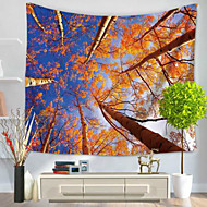billige Veggdekor-Blomster Tema Veggdekor 100% Polyester Moderne Veggkunst, Veggtepper Dekorasjon