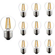 10pcs 4W 360lm E26 / E27 مصابيحLED G45 4 الخرز LED COB تخفيت ديكور أبيض دافئ 220-240V