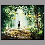 Handgeschilderde Landschap Retro Eén paneel Canvas Hang-geschilderd olieverfschilderij For Huisdecoratie