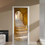 billiga Väggkonst-Arkitektur Väggklistermärken Väggstickers i 3D 3D, Vinyl Hem-dekoration vägg~~POS=TRUNC Vägg