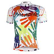ILPALADINO Homens Manga Curta Camisa para Ciclismo Caveiras Moto Camisa / Roupas Para Esporte, Secagem Rápida, Resistente Raios