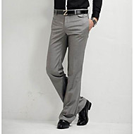 Masculino Casual Cintura Média Micro-Elástica Reto Chinos Calças,Sólido Verão