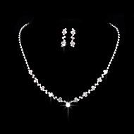 Dámské Kubický zirkon Šperky Set - Zirkon, Stříbrná minimalistický styl, Módní, Elegantní Zahrnout Visací náušnice Obojkové náhrdelníky Stříbrná Pro Svatební Párty Výročí Párty a večerní akce Zásnuby
