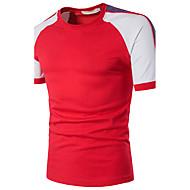 Masculino Camiseta Para Noite Casual Festa/Coquetel Sensual Simples Moda de RuaEstampa Colorida Algodão Poliéster Decote RedondoManga
