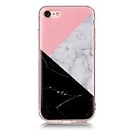 halpa -Käyttötarkoitus iPhone X iPhone 8 kotelot kuoret IMD Takakuori Etui Marble Pehmeä TPU varten Apple iPhone X iPhone 8 Plus iPhone 8 iPhone
