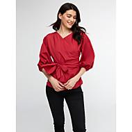 economico naomi-Camicia Per donna A quadri A V - Cotone / Inverno / Largo