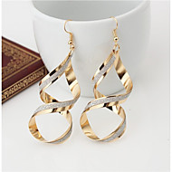 Women's Drop Earrings Earrings Earrings Twist Circle Simple Style Jewelry Gold / Silver For Wedding Party Special Occasion Halloween Anniversary Birthday 1pc / Gift