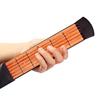 cheap Musical Instruments-Professional Guitar Trainer Tool Pocket Guitar 38 Inch 6 Strings Engineering Plastics Wood Portable for Beginner Musical Instrument