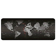 gaming musematte - bærbar stor skrivepute - glidbar gummibase verdenskort musematte (30x80x0.2cm)