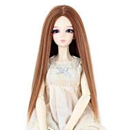 Naisten Synteettiset peruukit Suora Medium Auburn Doll Wig puku Peruukit