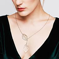 Damen Lasso Pendant Halskette Y Halskette Sterling Silber Silber Blattform Erklärung damas Modisch Verstellbar Silber Golden Modische Halsketten Schmuck Für Hochzeit Party Alltag Normal