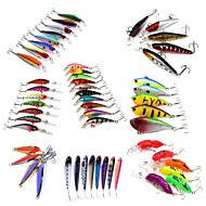 cheap Fishing-53 pcs Hard Bait Metal Bait Swimbaits Minnow Crank Pencil Vibration/VIB Lure kits Fishing Lures Metal Bait Vibration/VIB Pencil Crank