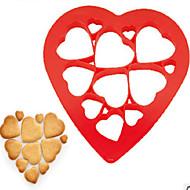 cookie verktøy kake pp non-stick miljøvennlig multifunksjon hjerteform