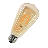 1pc 4w e27 ledフィラメント電球st64コブ360lm暖かい白の装飾ヴィンテージエジソンフィラメントライトac220-240v