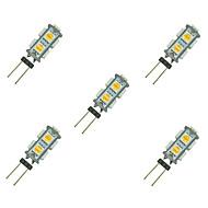 tanie Więcej Kupujesz, Więcej Oszczędzasz-5pcs 1.5W 85 lm G4 Żarówki LED bi-pin 9 Diody lED SMD 5050 Ciepła biel Biały DC 12V