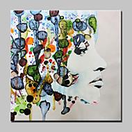 baratos -Pintura a Óleo Pintados à mão - Pessoas Abstracto Modern Tela de pintura