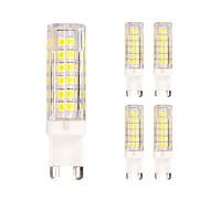 billige Bi-pin lamper med LED-5pcs 4.5W 400lm G9 LED-lamper med G-sokkel T 75 LED perler SMD 2835 Varm hvit Kjølig hvit 220-240V