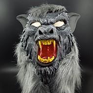 Hete verkoop latex dier wolf hoofd masker met haar halloween feest fancy eng kostuum horror anonieme gezichtsmaskers