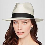 Pentru femei Mată Primăvară Vară Pălărie Vintage Clasic & Fără Vârstă In Microfibră,Palarie de soare Culoare pură Alb Bej