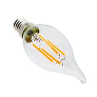 billige Stearinlyslamper med LED-ywxlight® 4w e14 led stearinlys ca35 4 leds cob dimbar dekorativ varm hvit 300-400lm 2800-3200k ac 220-240v