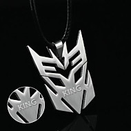 Foreign trade hot film ornaments deformation steel necklace men's jewelry Transformers Pendant