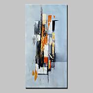billiga Oljemålningar-Hang målad oljemålning HANDMÅLAD - Abstrakt Abstrakt Moderna Duk
