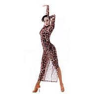 الرقص اللاتيني للمرأة أداء تول كم طويل فستان
