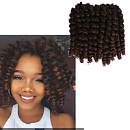 halpa -Pre-loop Virkkaa punokset Hiusletit Havana Letit Kihara Bouncy Curl 8 tuumainen Jamaikalaiset hiukset Kiina Kullanruskea Black / Mansikka