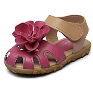 baratos Sapatos de Menina-Para Meninas Sapatos Courino Verão Conforto / Sapatos para Daminhas de Honra Sandálias Apliques / Velcro para Roxo / Fúcsia / Rosa claro