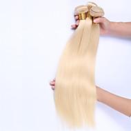 Gerçek Saç Düz Brezilya Saçı Precolored saç örgüleri Düz Saç uzatma 3 Parça Blonde